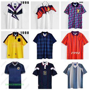 Шотландия Альба Футбол Джерси 1988 1989 1991 1993 1994 International McCoist Away Mcallister Классический старинный ретро футболка
