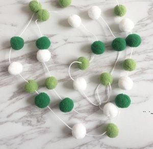 Macaron Color Hair Ball String Висит украшения Ins Украшения Nordic Home Мягкие наряды Детские девочки Декор комнаты OWE5486