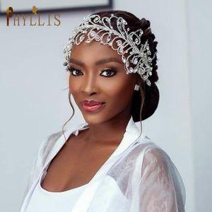 Handmadel Fandbands Wedding Strass Rhinestone Hairbands Crystal Bridal Headwear Tiarate Donna Headpiece Gioielli Clip per capelli Barrettes