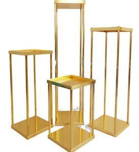 2021 Metal flower column wedding gold centerpiece flower stand decorative flower vase wedding decoration table centerpieces supplies
