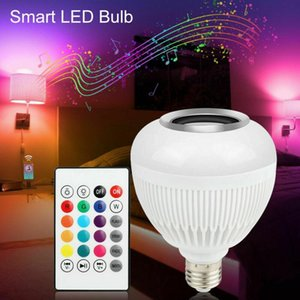 Smart RGB Wireless Bluetooth Music Play Speaker Bulb Light Lamps +Remote Home Control