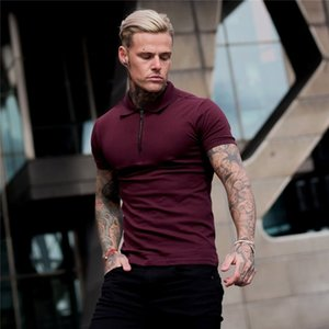 Mens Summer Solid Polo Shirt Short Sleeve Slim Fit Polos Fashion Streetwear Tops Men Cotton Fitness Sports Casual Golf Shirts 210324