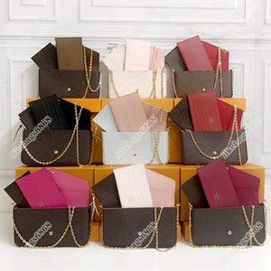 luxury Pochette Felicie women fashion designers bags real leather purse key card holder wallet handbag messenger crossbody chain clutch tote shoulder bag backpack