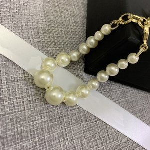 C2112 High quality new C letter seiko size pearl hand catenary fashion wedding high-end party beaded bracelet