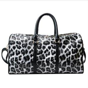 Print Pu Travel Women's Bag Leopard Female Handbag Large Capacity Bags New Fashion Handbaga Cylinder PT Xwmxa