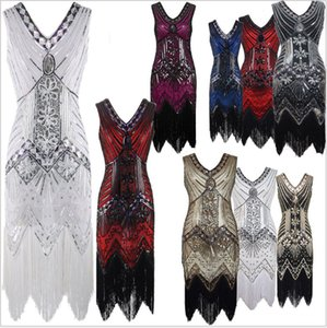 New Evening 1920s Style Sequin Fringes Woven
