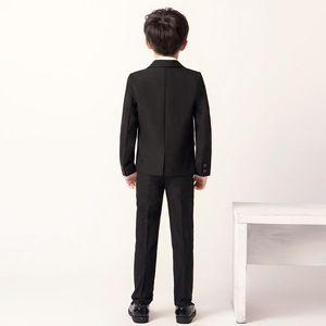 Suits 2021 Fashion Kid Boy Gentleman Suit Formal Cotton Leisure Clothing Baptism 3pcs: Jacket+pants+shirt