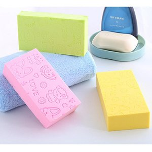 Decontamination Bath Body Shower Exfoliating Sponge 13*7*3cm Printed Adult Bathing Sponge Bath Artifact Powerful Remove Mud DH0652-1
