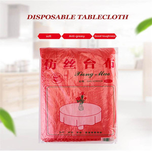 Disposable Table Covers Plastic Solid Color Tablecloth Birthday Party Wedding Christmas Cover Wipe Desk Cloth Decor