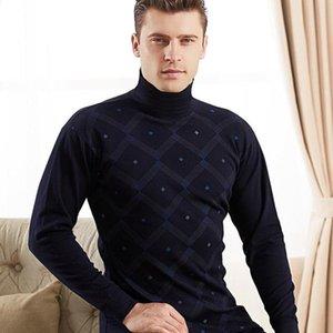 Men turtleneck thermal underwear set cotton long Johns suits long sleeve shirt+pants 2 pieces set winter warm