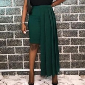 Skirts Women Skirt High Waist Pleated Asymmetric Casual All-match Fashion Personality Ladies Office African 2021 Summer