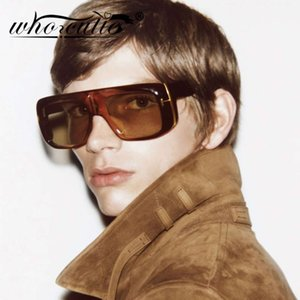 Oversized Futuristic Sunglasses Men Women 2021 Fashion Brand Design Vintage Retro Leopard Frame Flat Top Tom Sun Glasses S062