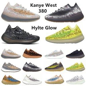 380 v2 hombre oeste 380 kanye corren los zapatos 380S alienígenas pimienta lmnte calcita Hylte resplandor azul de avena niebla hombres mujeres las zapatillas de deporte yeezy 380