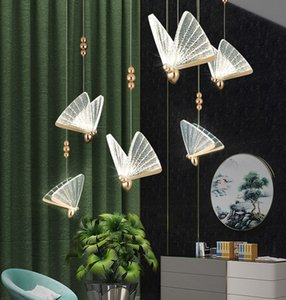 Beautiful Butterfly LED Pendant Light Nordic Ceiling Lamp Art Deco Chandelier