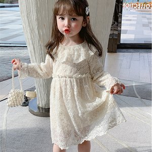 Children 2021 Spring Clothes Kids Dresses For Girls Lace Wedding and Party Baby Girls Tutu Dress vestido nia