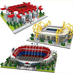 Architektur Fußball Fußballplatz San Siro Stadion Diamant Bausteine Old Trafford Nou Camp Signal IDUNA Micro Ziegel Spielzeug x0522