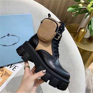 Donnersalers Rois Martin e stivali da combattimento ispirati militari in nylon Bouch in nylon attaccato alla caviglia con borse