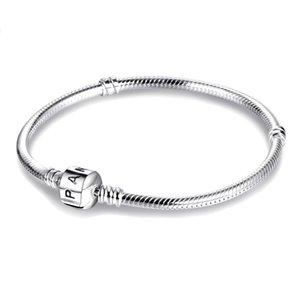 925 Sterling Silver Bracelets 3mm Snake Chain Fit Pandora Charm Bead Bangle Bracelet DIY Jewelry Gift For Men Women