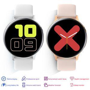 S20 Erkek Kadın Tam Dokunmatik Ekran Su Geçirmez Akıllı Bileklikler Aktif 2 44mm Smartwatches IP68 Gerçek Kalp Hızı Smartwatch DHL Hızlı