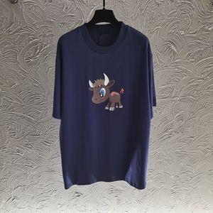 Été 2021 Femmes Tops T-shirts Shorts Femmes Vêtements T-shirt Dessin animé Fashion Cow Imprimer Designer