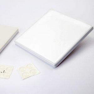 Sublimation Ceramic Coaster Square mat for tumblers Blank White sublimated coasters DIY Thermal transfer Cup-mat RRE10511