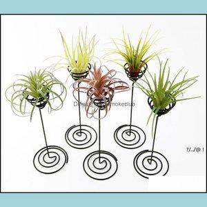 Patio, Lawn Home & Gardenwwholesale Garden Decorations Air Plant Stand Holder Black Iron Spiral Flower Airplant Container Tillandsia Ewe5831