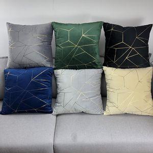 Velvet Cushion Cover Fashion Simple High Quality Soft Pillowcase For Home Party Festival Car Chair Decoration Cushion Decorative Pillow