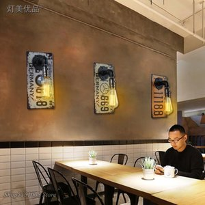 Wall Lamps Led Industrial Iron Lamp, E27 Old For Restaurant, Kitchen, Bar And Home Decoration