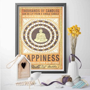 19OA Paintings Canvas Pictures Home Decoration Buddha Statue Paintings Modern Wall Artwork HD Prints Creative Poster Modular For Living Room