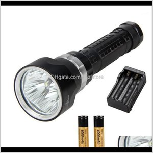 Flashlights Torches And Camping Hiking Sports & Outdoors6000Lm Scuba Diving 4X Xml U2 Led Solarstorm Waterproof Torch Light +2X +Charger1 Dro
