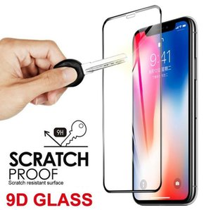 Tempered Glass Screen Protector Full Coverage for iPhone 12 Pro Max XR 11 X XS 7 8 Plus Samsung Galaxy A20E A40 S20FE Noet 20 S21 A02S A21S A51 A71 A32 A42 A52 A72