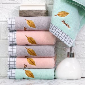 Fashion Adult Home Towels Embroidery Pattern Jacquard Towel Super Soft Absorbent Towel Gift