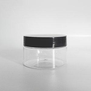 100G vides de la bouteille de bouche large avec le capuchon PP 100 ml de crème de crème de conteneur en plastique transparent de 100 ml RRD7525