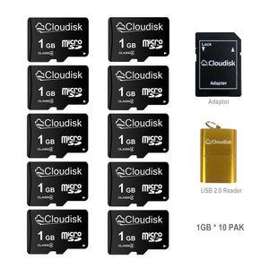 10 Pack Cloudisk Micro SD 8GB 16GB 32GB 64GB Class10 Bulk Sale Memory Card 1GB 2GB 4GB Class 4-Class 6