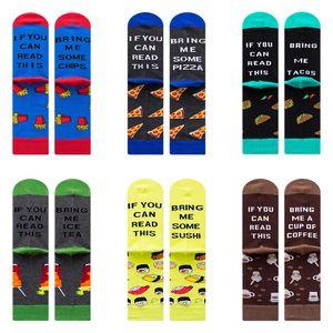 5pcsFunny Letters Socks Men And Women Autumn Winter Skateboard Socks Embroidery IF YOU CAN READ Male Female Happy Socks