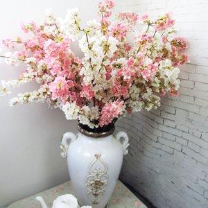 Высококачественные японские вишневые цветы Искусственный шелковый цветок Home Hotel Mall Свадебные украшения Цветы фотостудиочные реквизиты