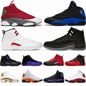 Men Shoes 2020 Aurora Green Playground 13s Dark Powder Blue Jumpman 13 Bred Cap and Gown Flint Court Purple Sneakers With Box 12 12s Twist Utility Trainers