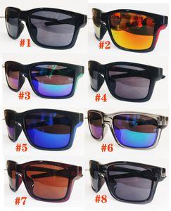 MOQ = 10pcs 브랜드 다채로운 바람 사이클링 GLSSES 남자 낚시 오토바이 선글라스 미러 스포츠 야외 안경 고글 여성 남성 8colors 광장