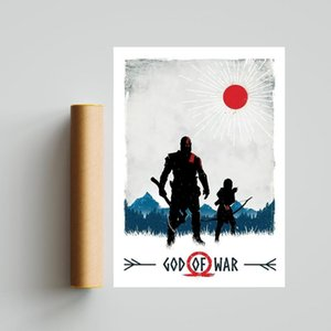 Paintings God Of War Video Game Poster Prints Art Canvas Painting Wall Pictures Living Room Home Decor ( No Frame )