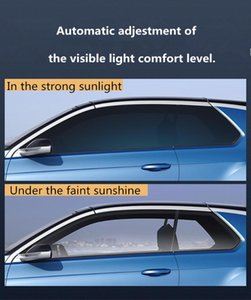 Smart Pochromic Film Car Windows Auto Tint Adjustment VLT69%-25% Glass Sticker Heat Resistent Explosion Proof Foils Sunshade