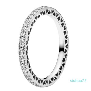 2021 925 Sterling Silver CZ Diamond RING fit Pandora Wedding Rings Engagement Jewelry for Women 59 M2