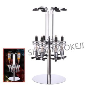 Ice Buckets And Coolers Wine Holder 6 Rotating Pourer Vertical Rack Decoration Shelf Creative Separator Easy To Operate 1pc