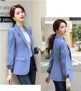 HIGH QUALITY Fashion 2021 Design Blazer Jacket Women's Green Black Blue Solid Tops For Office Lady Wear Size S-4XL
