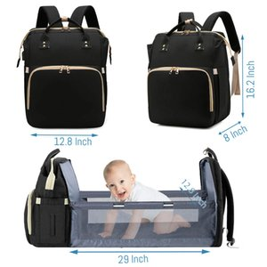3 in 1 Diaper Bags Backpack foldable Baby Bed Mummy Bag with Changing Station