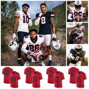 2021 Arizona Wildcats NCAA College Football Jersey Grant Gunnell Jamrie Coiner Stanley Berryhill III Gary Breatwell Anthony Pandy Plammer