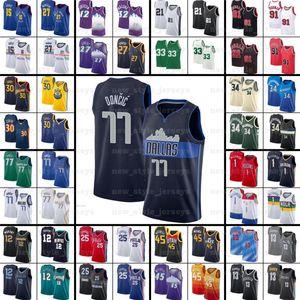 Kevin 7 Durant Kyrie Harden Irving Luka Basketbol Formaları Giannis LBJ Doncic Joel Dwyance Lillard Embi Wade Antetokounmpo Z5 Pippen Morant