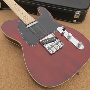 Wine red electric guitar, good quality, black guard plate, free delivery, welcome custom.telecaster