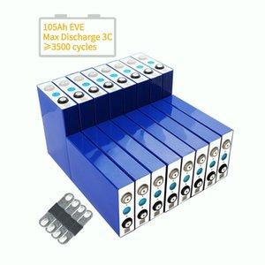 Перезаряжаемые литий-ионные аккумуляторы 3.2V 105AH LifePO4 Аккумуляторная ячейка 3.2V100ah Prismatic для солнечной системы и электромобиля