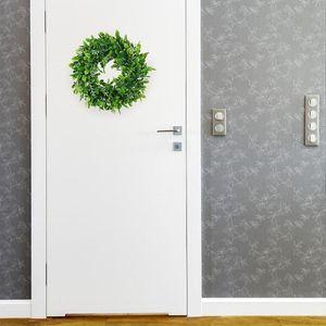 "Christmas Decor Artificial Wreath Flowers Door Hanging Wall Window Decoration Wedding Party 11.8"" Diameter Decorative & Wreaths"