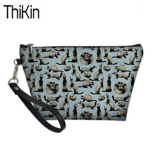 Make Up Bags For Women Cheeky Ferrets Printing Cosmetic Cases Ladies Travel Toiletry Bag Organizer Females Makeup Bag1
